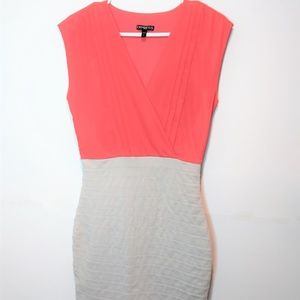 Express Dress Sleeveless V-neck Wrap Size